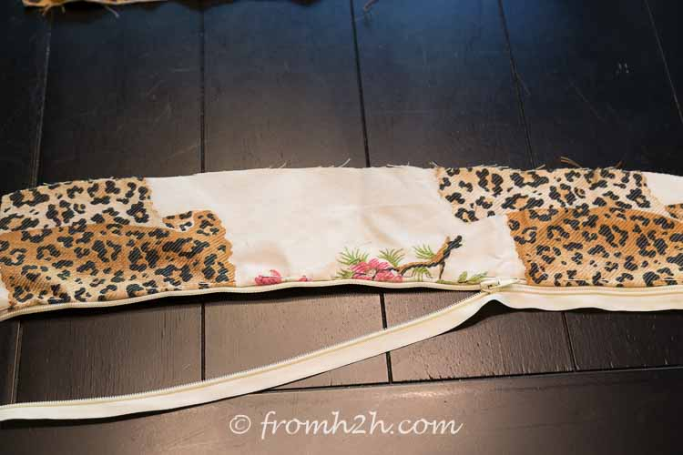 Pin the fabric to the zipper | How to Make Cushion Covers Like a Pro