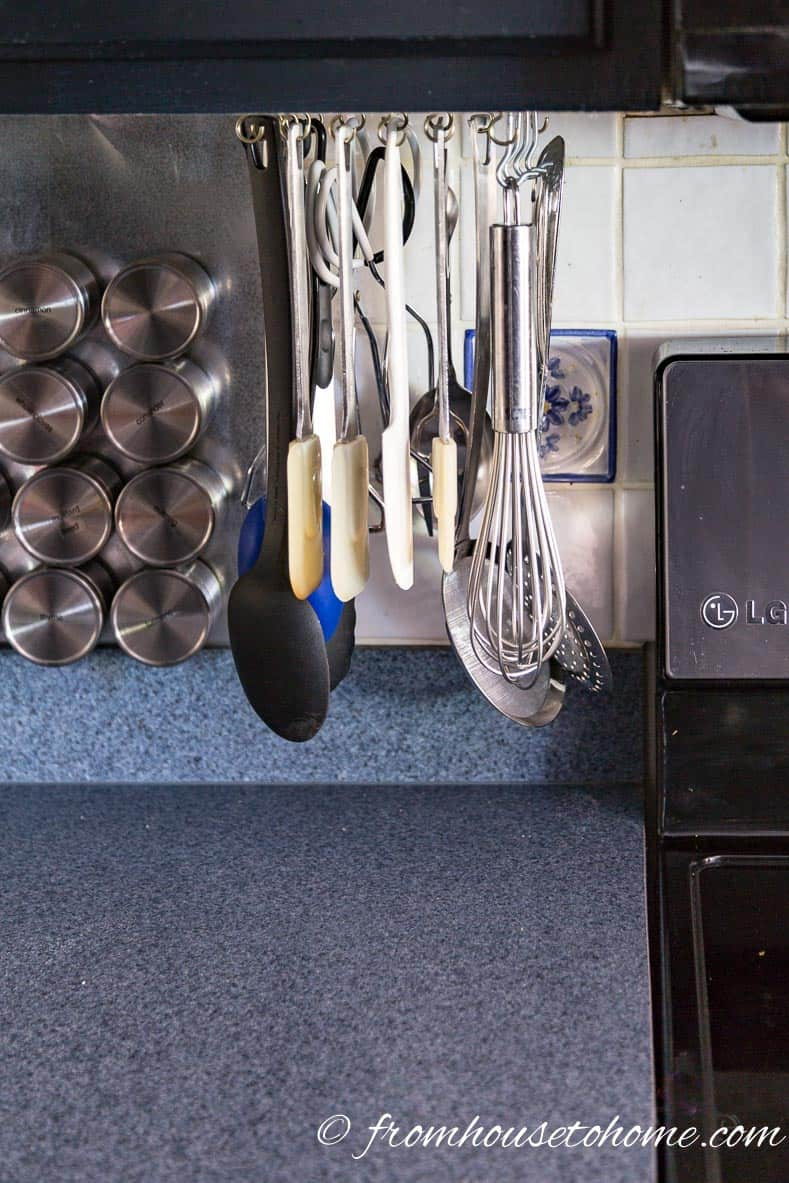 Diy Cooking Utensils Rotating Storage Rack