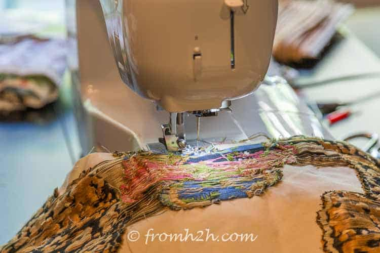 Sew the front and back of the cushion with the right sides together | How to Make Cushion Covers Like a Pro