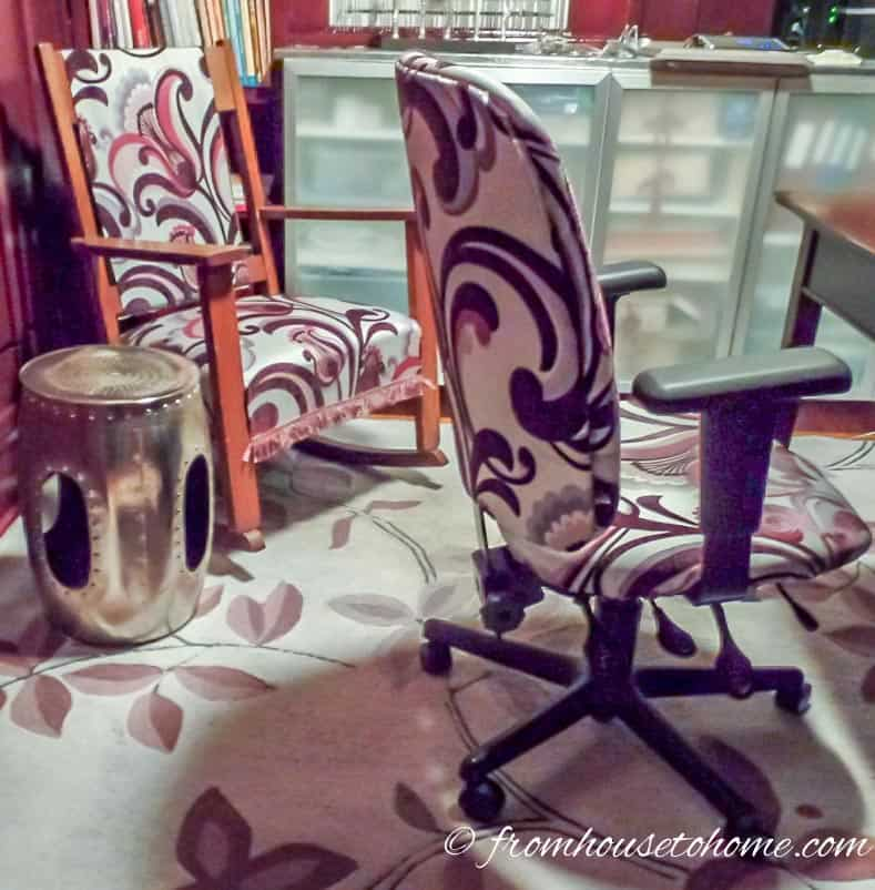 Do - Decide what you are going to keep...The rocking chair, desk chair and upholstery stays | The Do's and Don'ts of a Successful Room Makeover