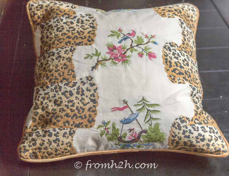 The finished cushion | How to Make Cushion Covers Like a Pro