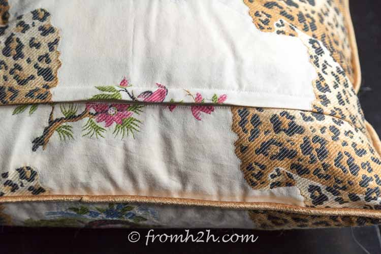 When the cushion is finished, you can't see the zipper | How to make cushion covers like a pro