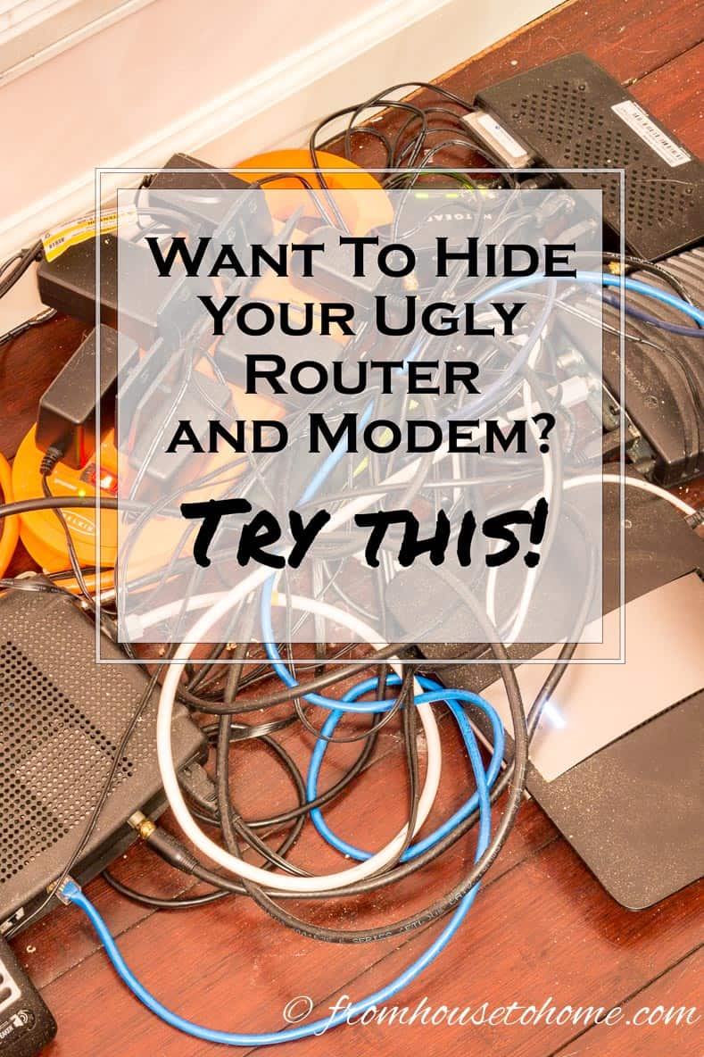 Messy Wiring Modems Automotive Diagram Closet How To Hide Your Ugly Router And Modem Rh Fromhousetohome Com Nightmare