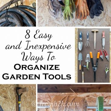 8 Easy and Inexpensive Ways to Organize Garden Tools