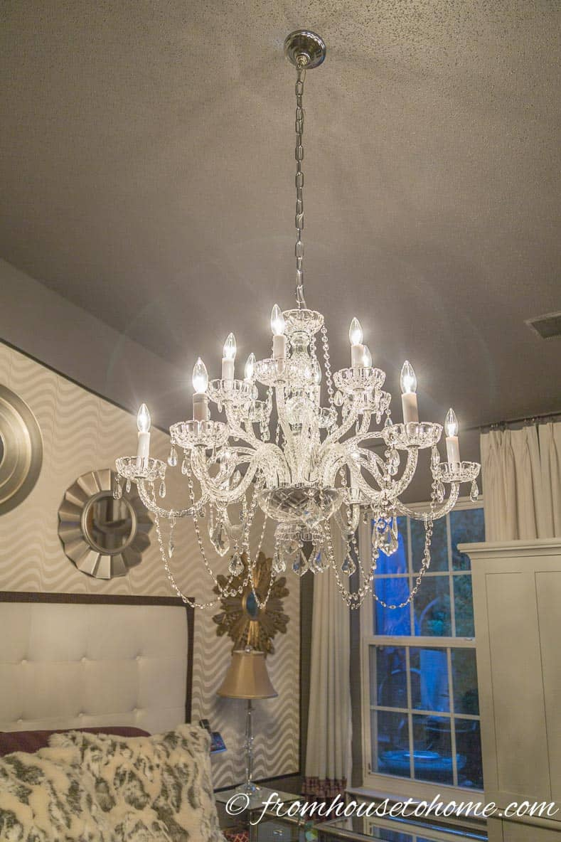 The new chandelier | How to Hang a Chandelier
