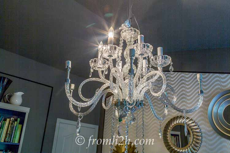 Test that the wiring is working | How to Hang a Chandelier