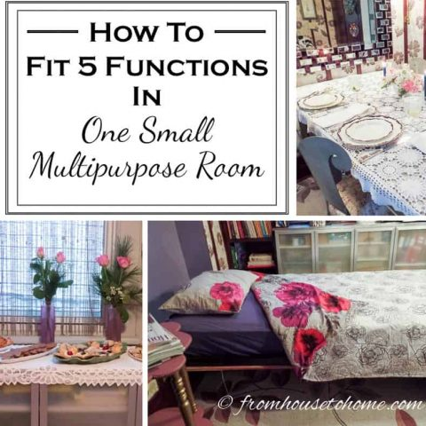 How to fir 5 functions in one small multipurpose room