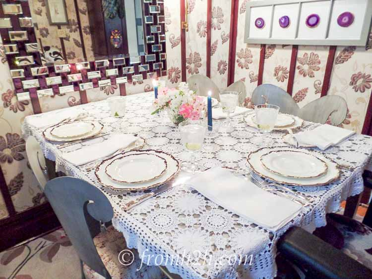The room set up for dinner | How To Fit 5 Functions In One Small Multipurpose Room