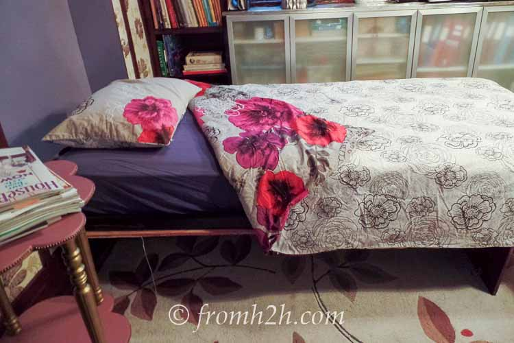 A Murphy bed is built into the wall | How To Fit 5 Functions In One Small Multipurpose Room