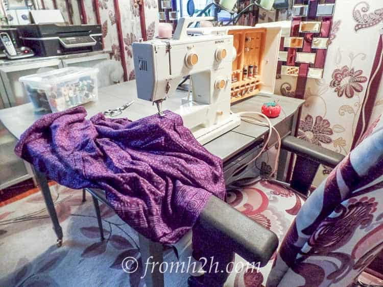 The room works well as a sewing room | How To Fit 5 Functions In One Small Multipurpose Room