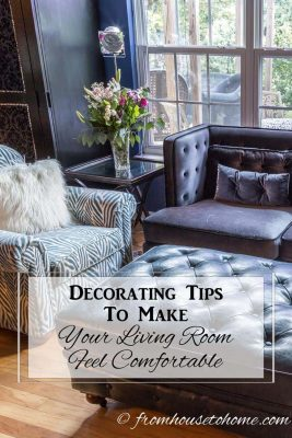 Decorating tips to make your living room more comfortable