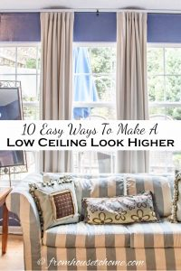 easy ways to make a low ceiling look higher