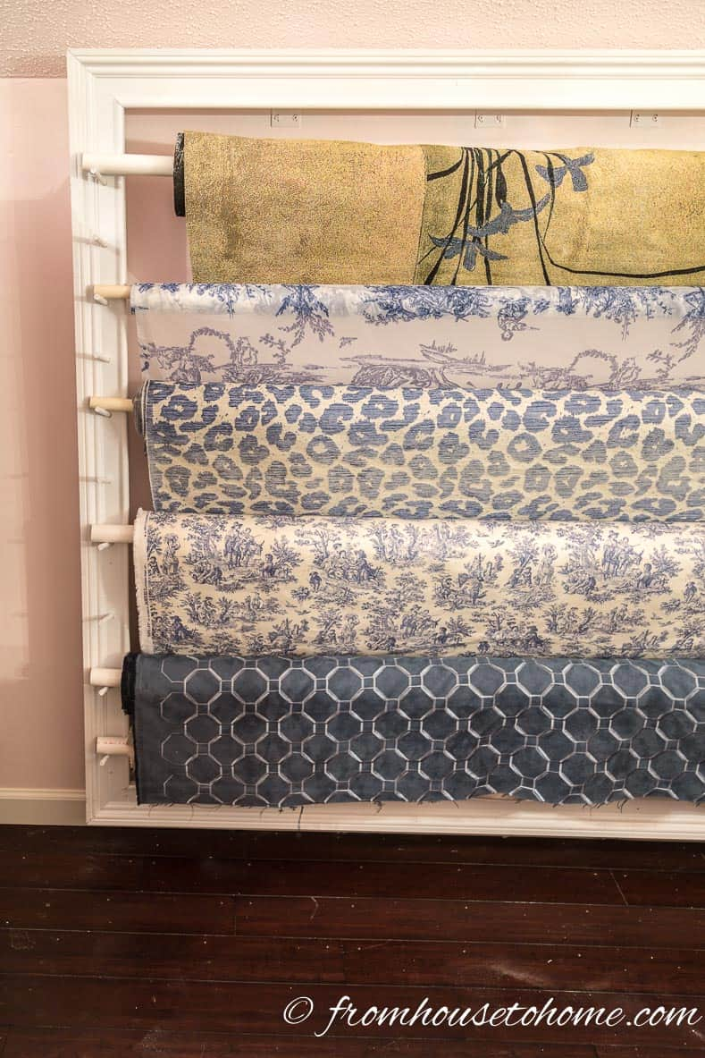The Fabric Roll Rack | How To Hang Wallpaper The Easy Way