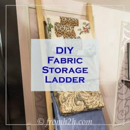 DIY Fabric Storage Ladder
