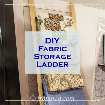 DIY Fabric Storage Ladder
