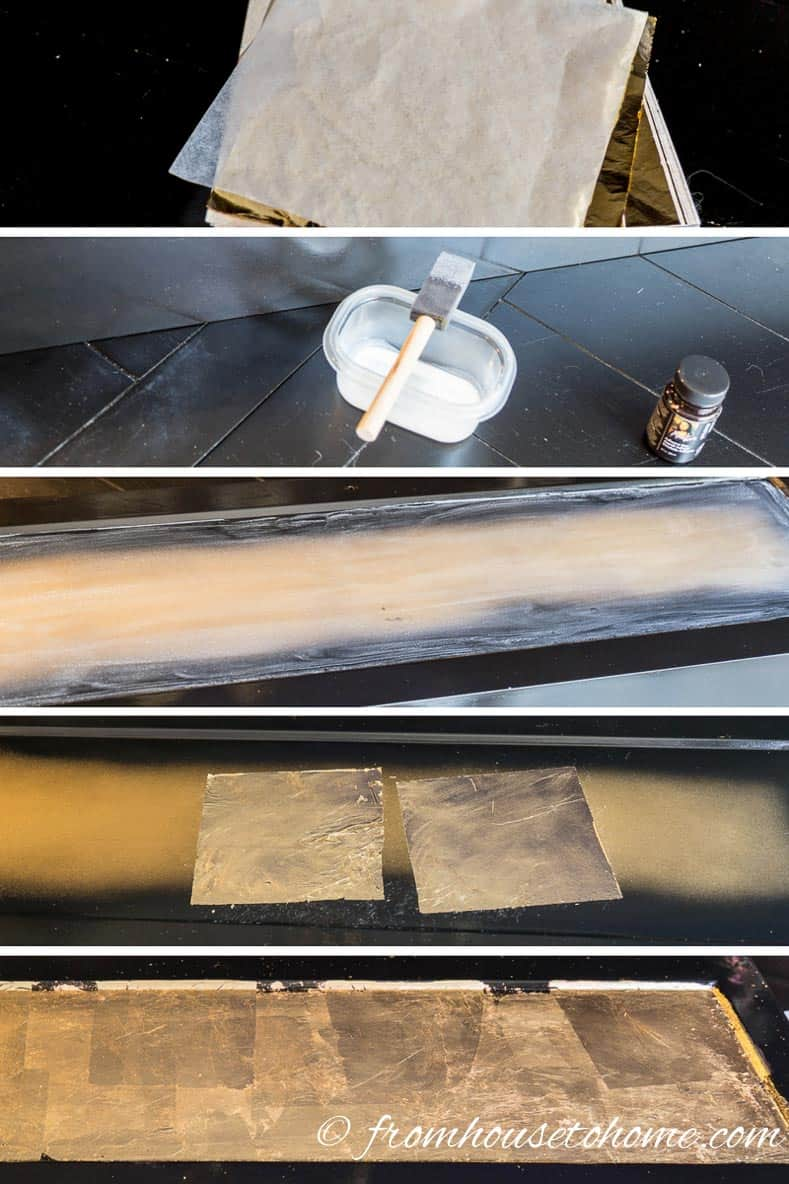 The steps for applying Gold Leaf To Furniture