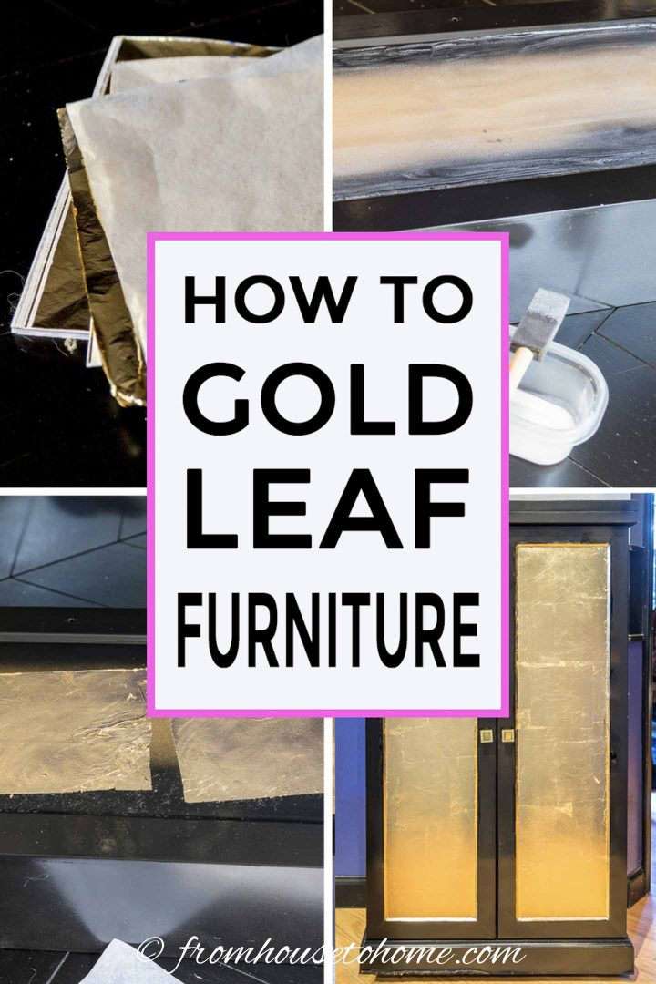 how to gold leaf furniture