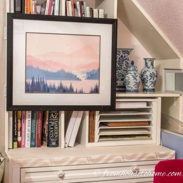 How To Hang Art On a Bookcase And Still Have Access To The Books
