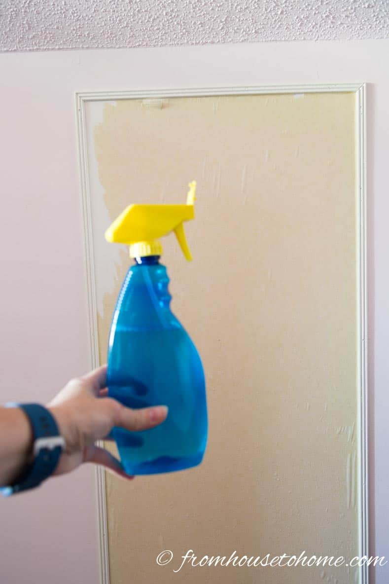 Spray the paper with water | 3 Secrets For Hanging Wallpaper So It Can Be Removed Easily