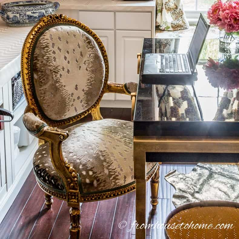 The gold chair in the office | How to Make Your Desk More Comfortable