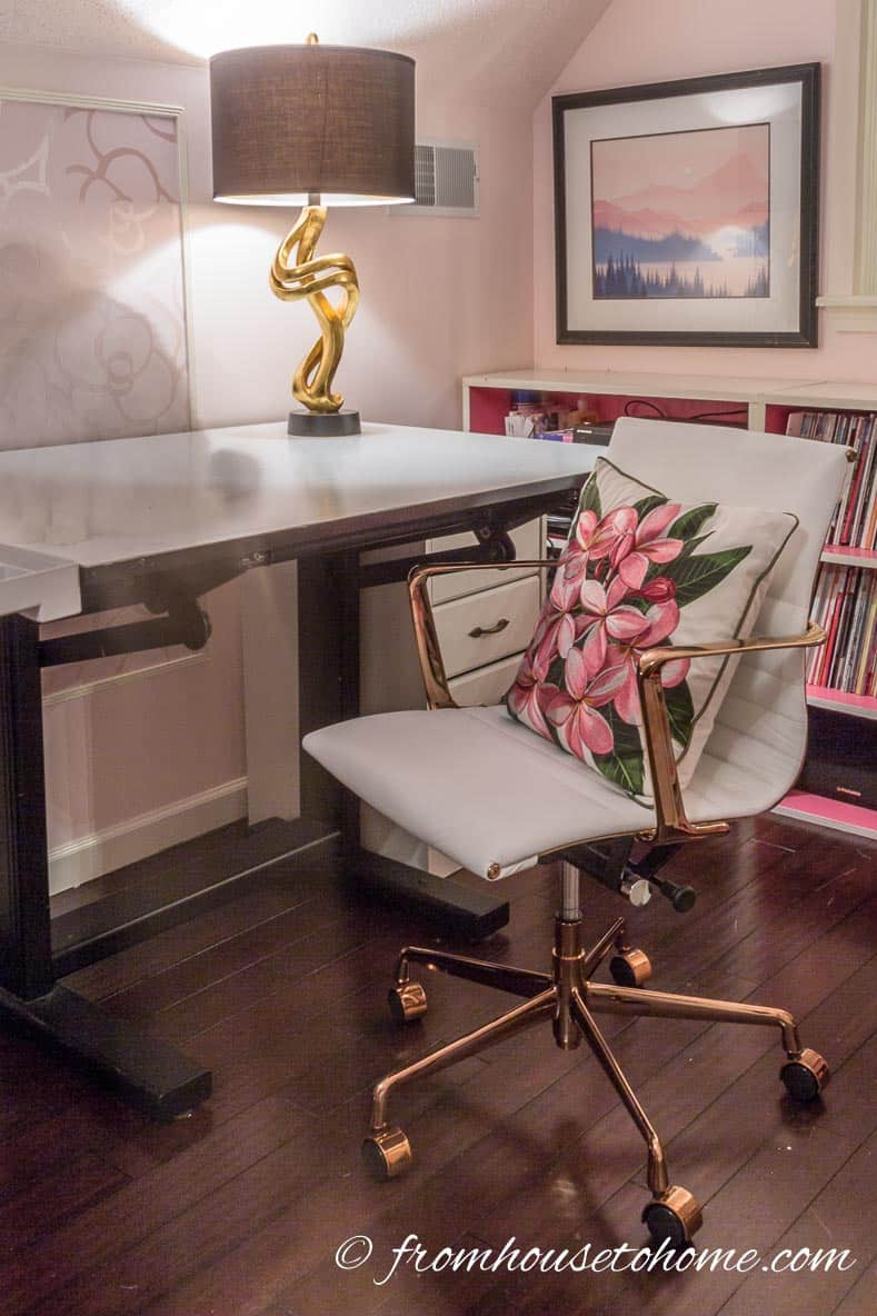 The work table and chair | How to Make Your Desk More Comfortable