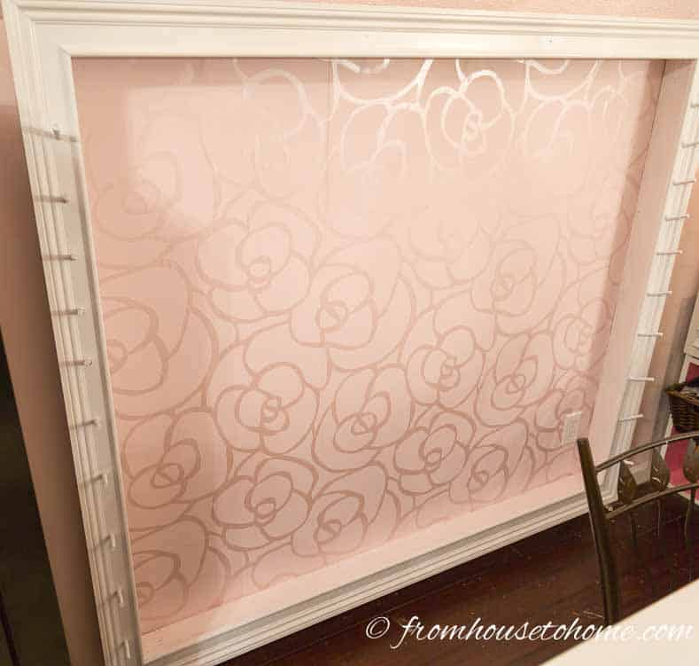 The finished wallpaper background | How To Hang Wallpaper The Easy Way