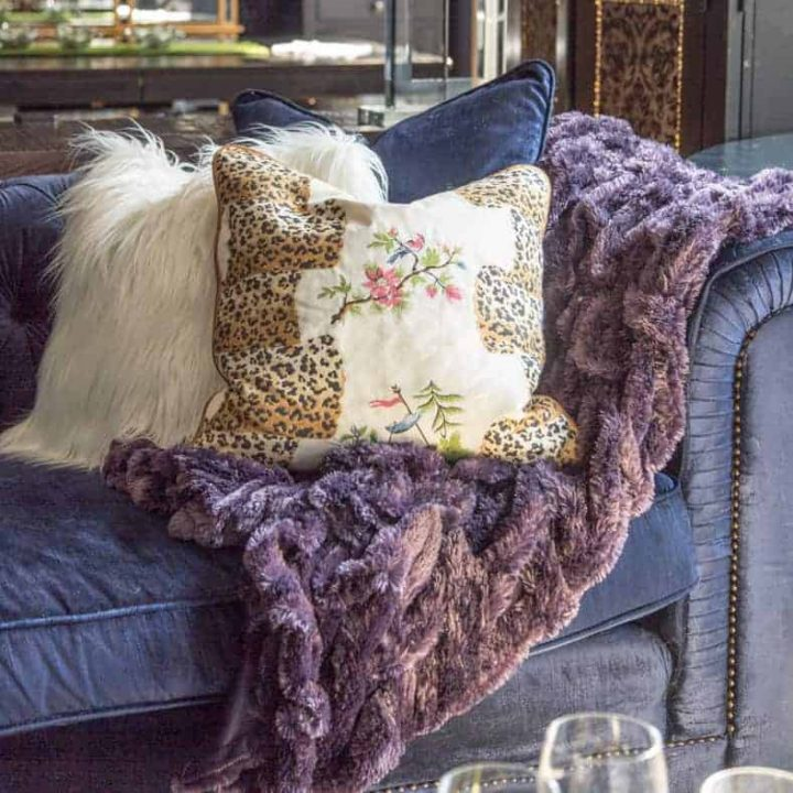 Cozy room textured fabric