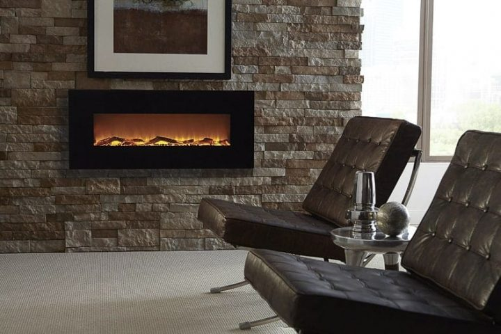 A modernn electric fireplace
