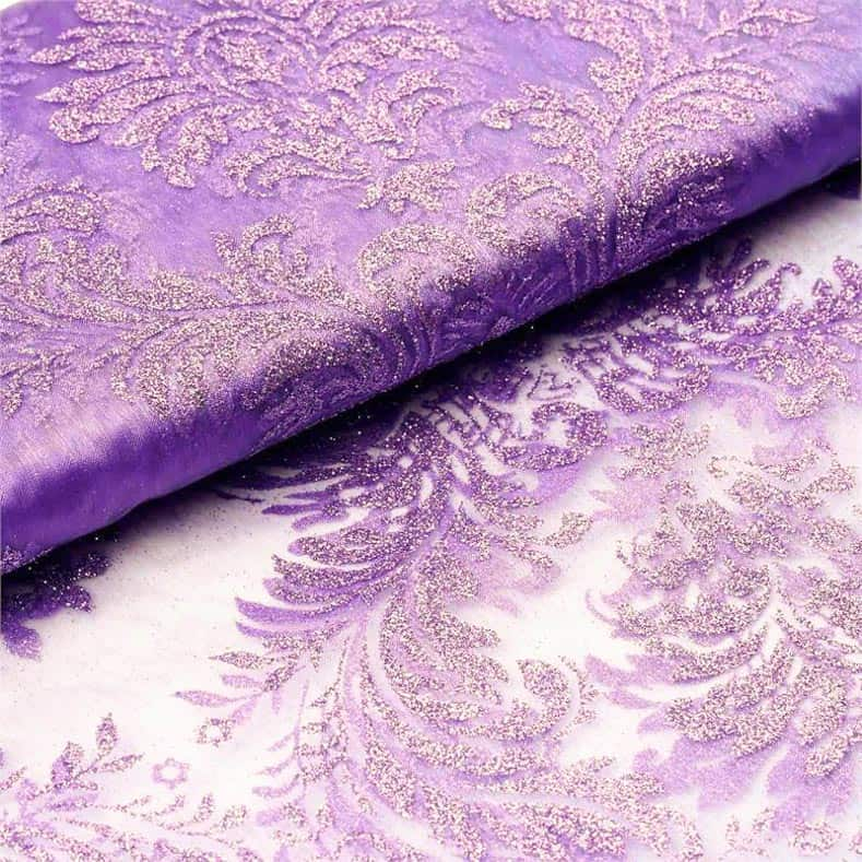 Purple lace fabric for tablecloth