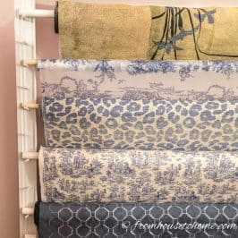 How To Make a Fabric Roll Storage Rack