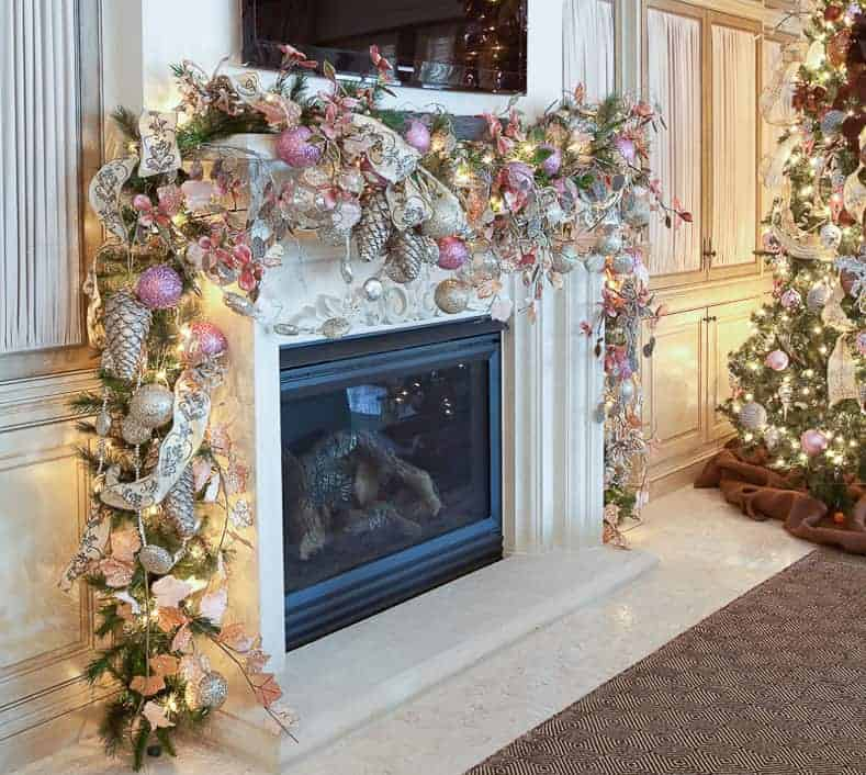 How To Decorate A Christmas Mantel With Tv Above It