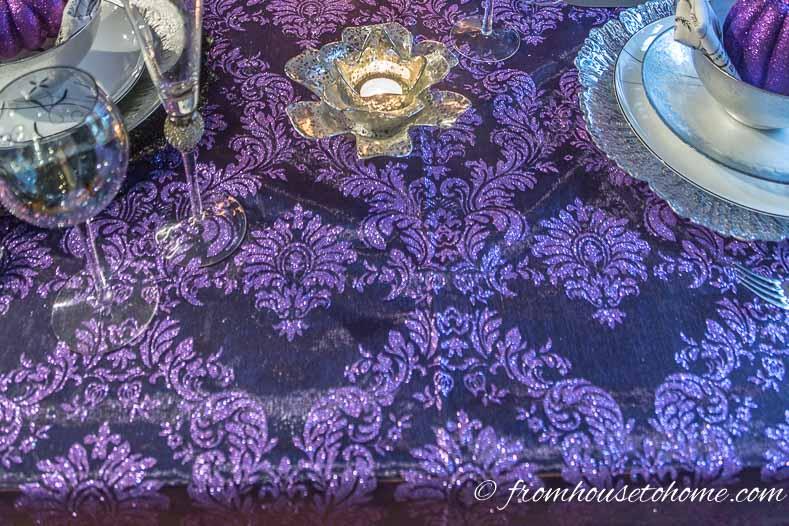 Purple thanksgiving table