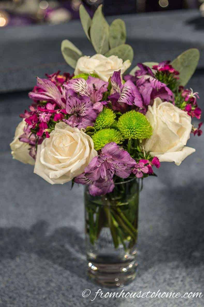 Use a highball glass as a vase