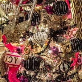 How To Decorate a Glam Kate Spade Inspired Christmas Tree