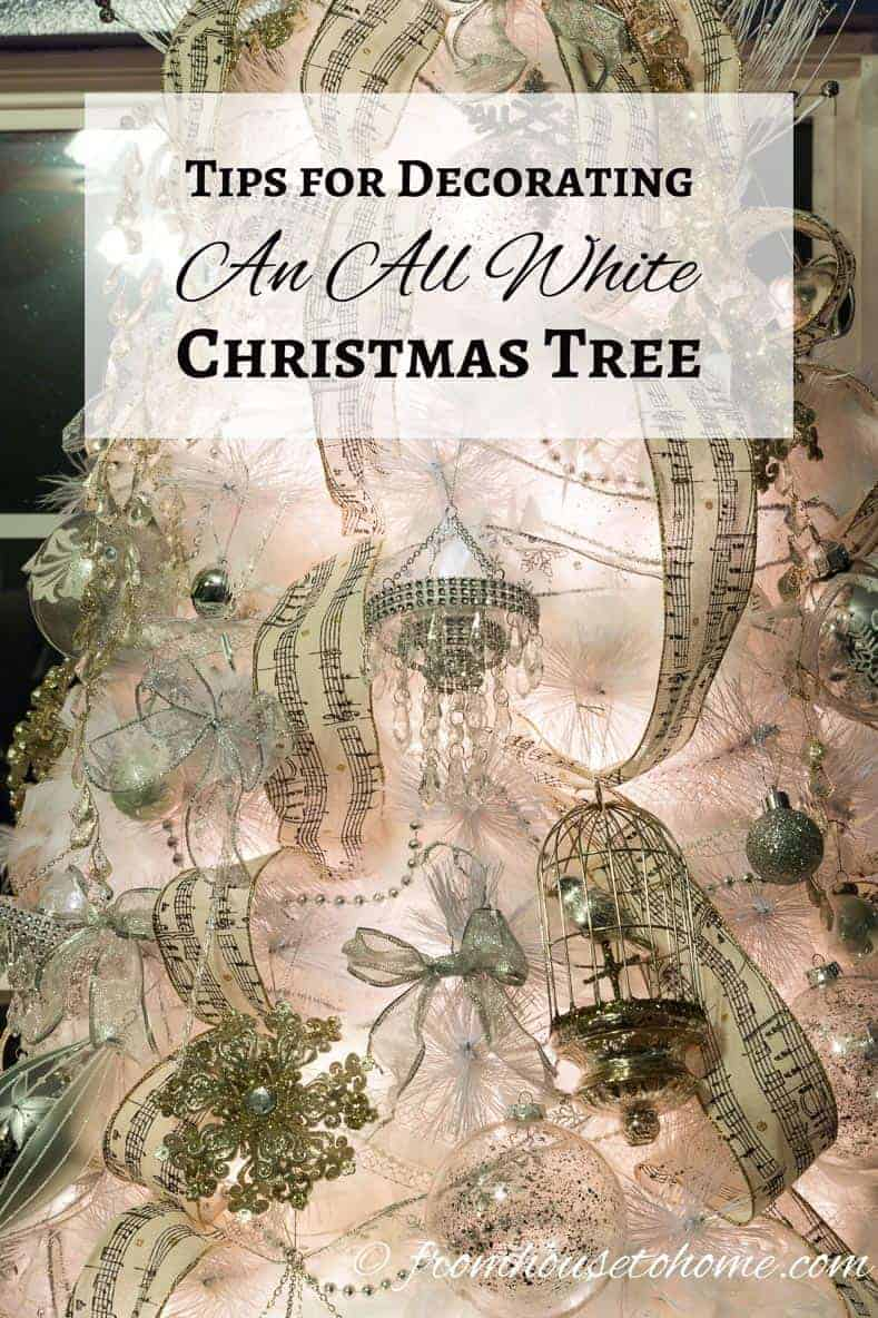 Tips for decorating an all white christmas tree - Tips to care for a natural christmas tree ...