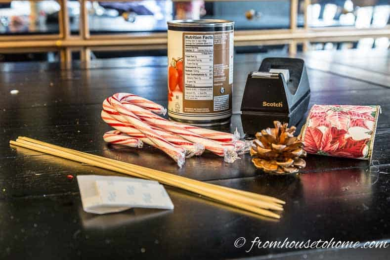 How To Make A Cheap And Easy Candy Cane Christmas Centerpiece