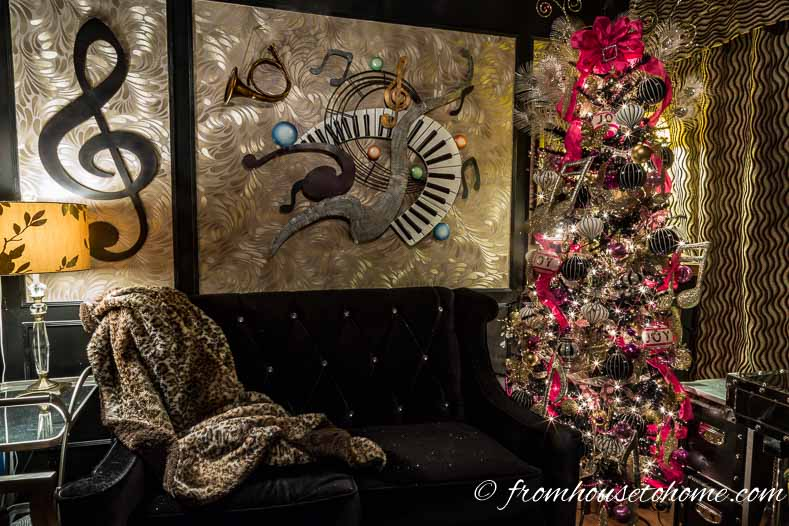 The Christmas tree in my den | How To Decorate a Kate Spade Inspired Christmas Tree