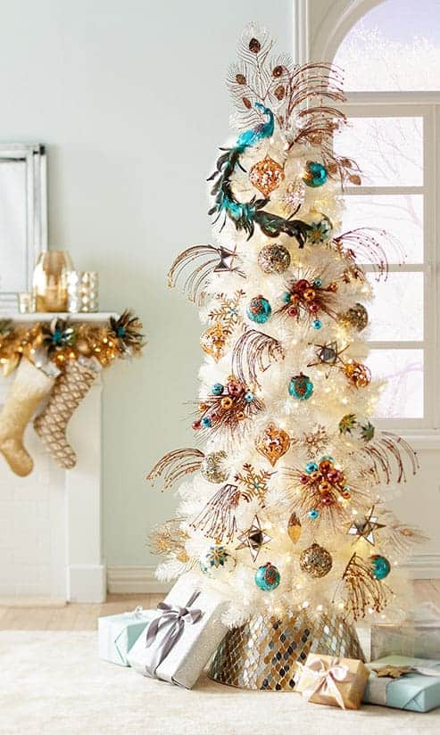 The Peacock Tree via Pier1.com | 10 Creative Christmas Tree Themes To Get Inspired By