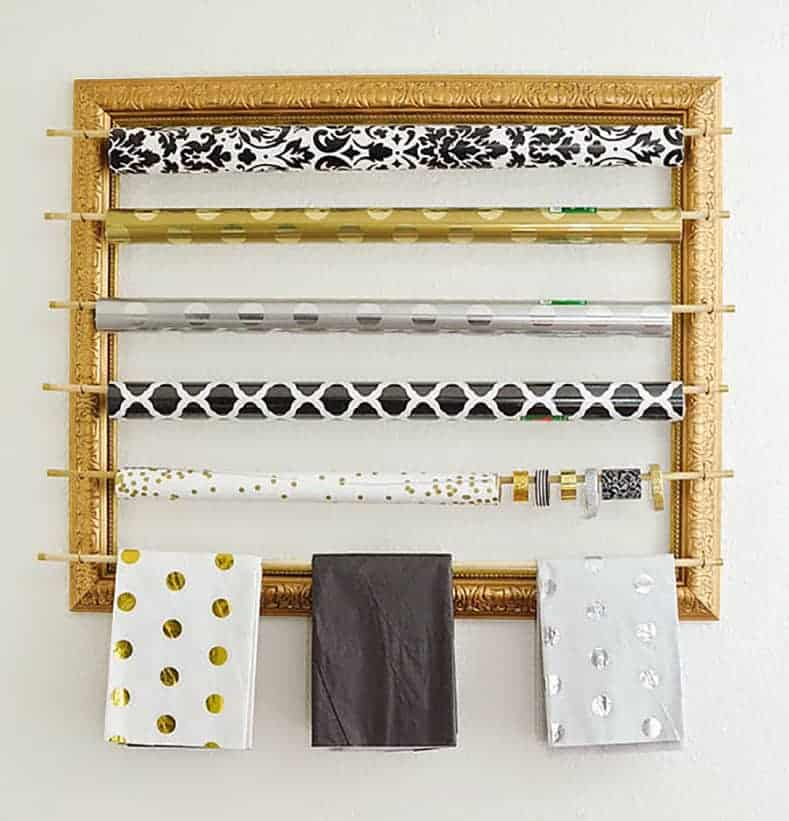 Framed wallpaper storage via monicawantsit.com