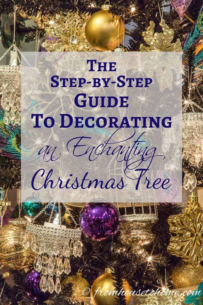 The step by step guide to decorating an enchanting Christmas tree | Need some help with making your Christmas tree look beautiful? See our easy to follow steps on how to decorate a Christmas tree