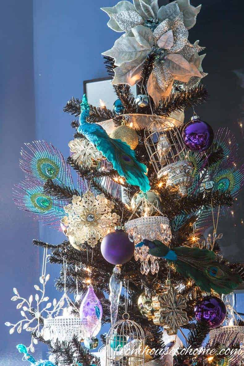 Peacock Christmas Tree | 10 Creative Christmas Tree Themes To Get Inspired By
