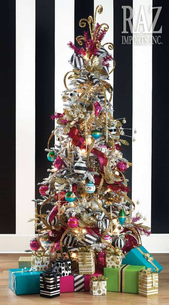 The Kate Spade Inspired Christmas tree via razimports.com | 10 Creative Christmas Tree Themes To Get Inspired By