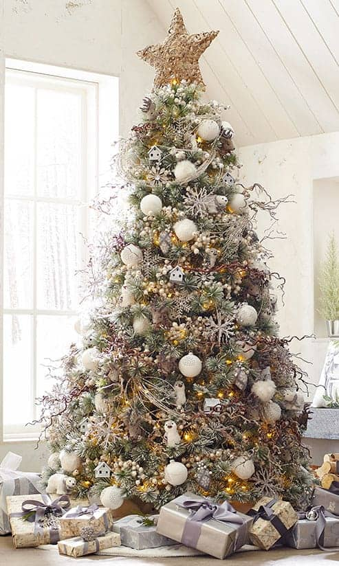 Snowy Christmas Tree | 10 Creative Christmas Tree Themes