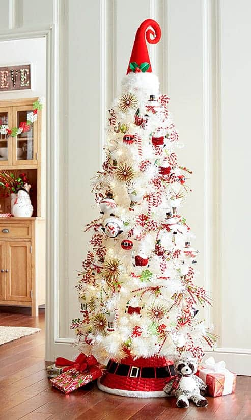 The Peppermint Party Tree via pier1.com | 10 Creative Christmas Tree Themes To Get Inspired By