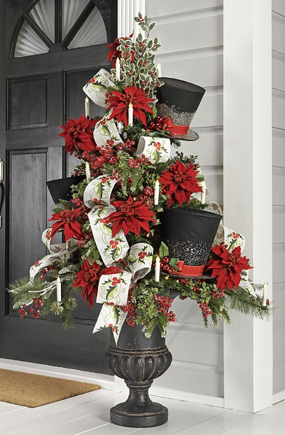 Top Hat Tree via razimports.com | 10 Creative Christmas Tree Themes To Get Inspired By