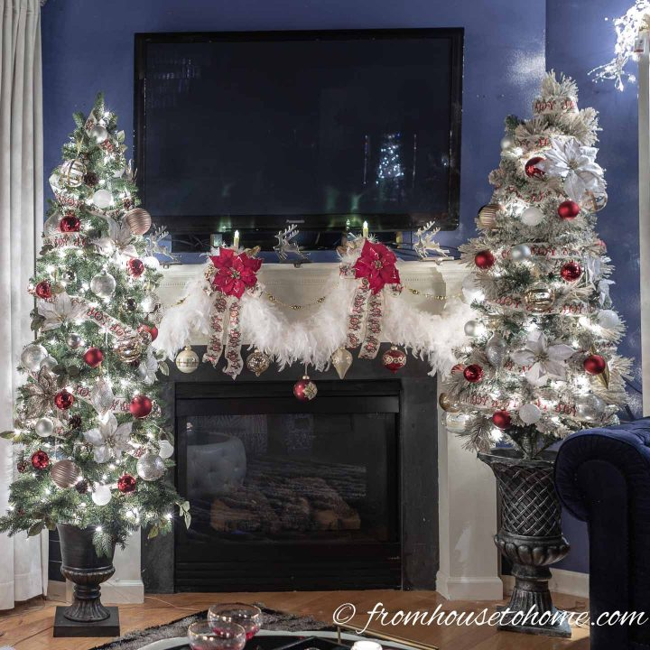 How to decorate a christmas mantel with a tv above it - How to decorate my home ...
