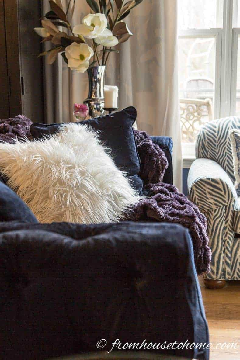 Faux fur is a continuing trend for 2017 - Most popular home decor trends of 2017 | If you are planning to do some decorating this year and are looking for some inspiration, this list of the current home decor trends will give you some idea of what is new and popular for interiors in 2017.