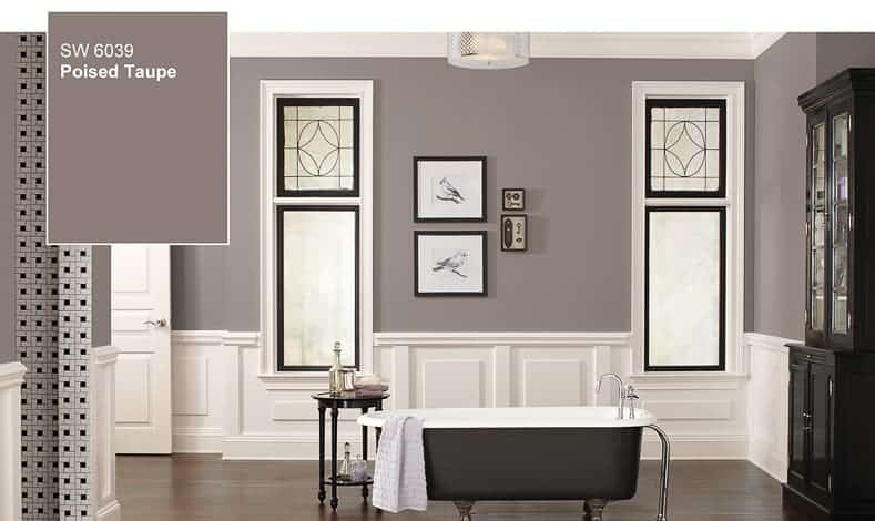 "Sherwin Williams ""Poised Taupe"" 