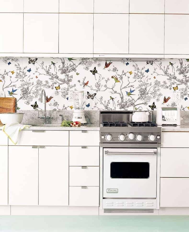 Wallpaper kitchen backspash