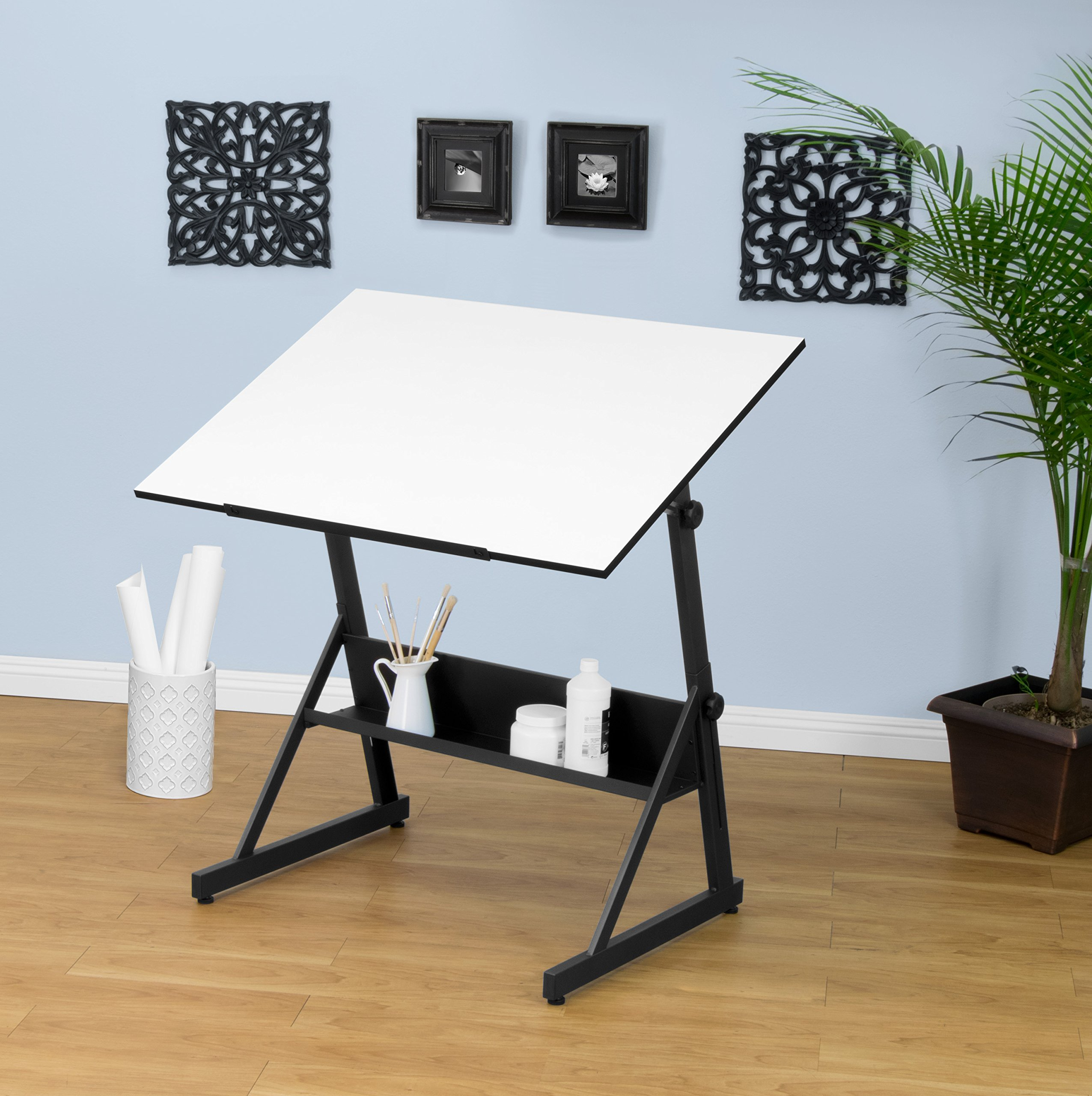 Adjustable height drafting table